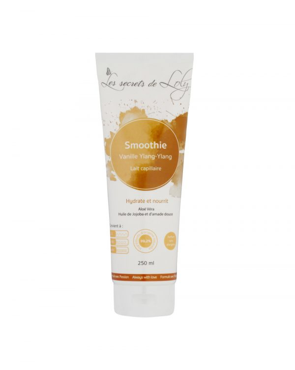 smoothie vanille ylang ylang lait capillaire hydratant secrets de loly